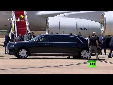 شاهد سيارة أوروس للرئيس بوتين بأرقام روسية في البرازيل