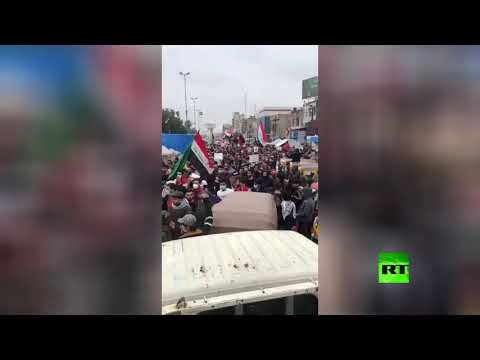 شاهد تجدد الاحتجاجات وسط العاصمة بغداد