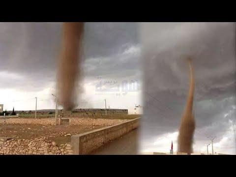 شاهد إعصار كبير يضرب واد زم وأبي الجعد