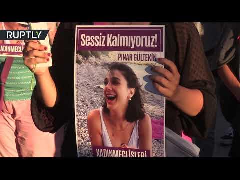 شاهد تجمعات نسائية في إسطنبول احتجاجًا على العنف ضد المرأة