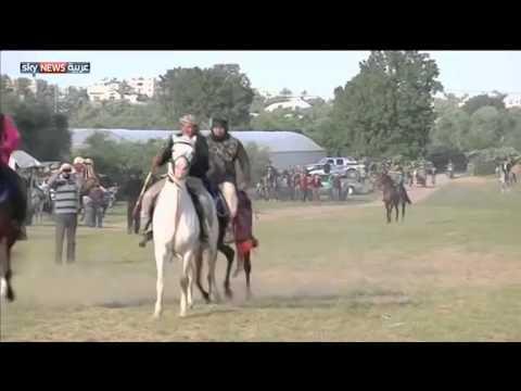 إقبالٌ مُتزايد على سباقات الخيول في غزة