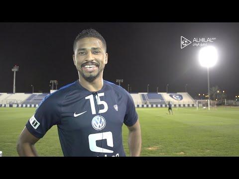 شاهد مهاجم نادي الهلال الشمراني يؤكد بقائه مع الفريق